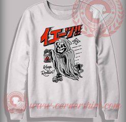 Keep Rollin Roller Skates Sweatshirt
