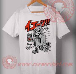 Keep Rollin Roller Skates T shirt