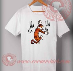 Cheap Custom Made Hobbes laughing T shirts