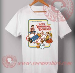 Cheap Custom Let's Summon Demons Halloween Shirts For Adults