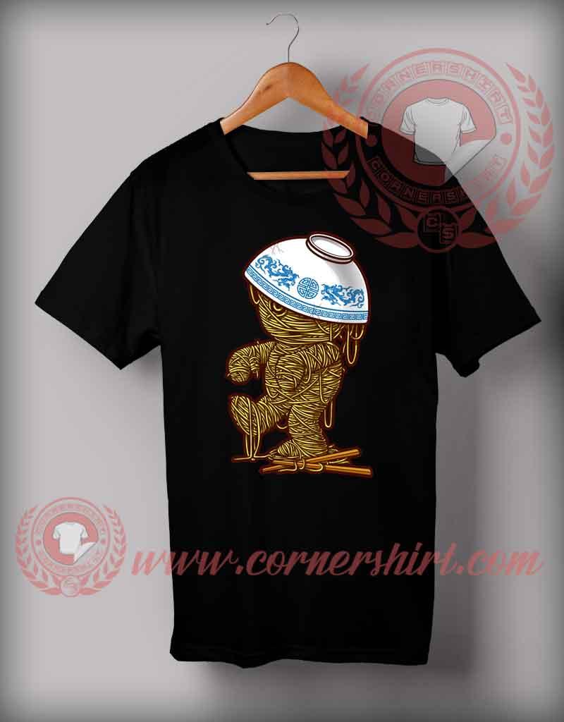 Cheap custom made halloween shirts for adults mummy ramen for Make custom shirts cheap