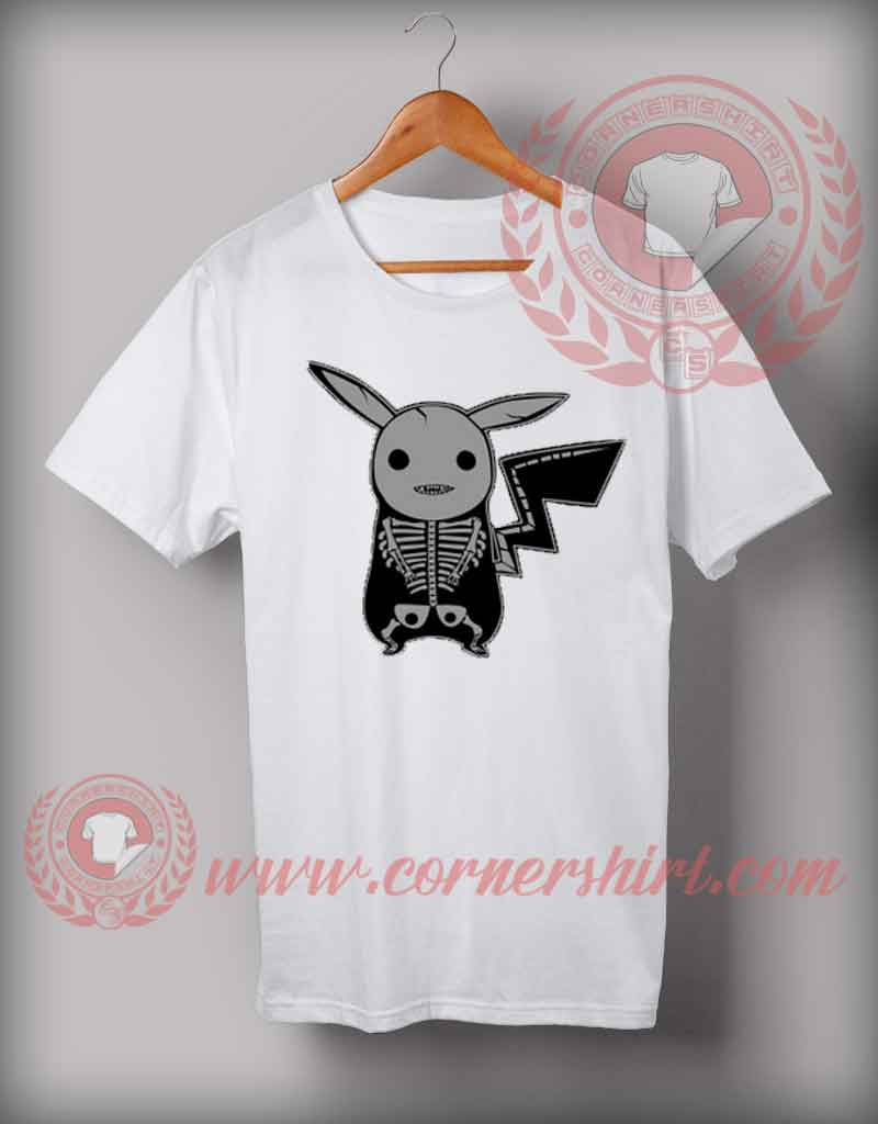Pikachu Skeleton Halloween T shirt, Halloween Shirts For Adults