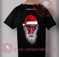 Funny Christmas Gifts For Friends Monkey King Santa T shirts