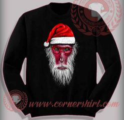 Funny Christmas Gifts For Friends Monkey King Santa Sweatshirt