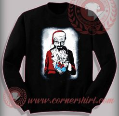 Scary Santa Sweatshirt Funny Christmas Gifts For Friends
