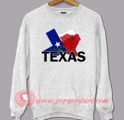 Texas Rose Map Sweatshirt