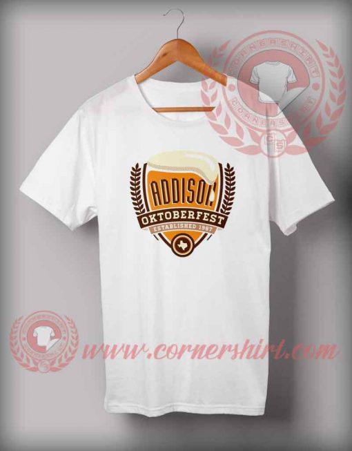 Cheap Custom Made Tshirts Addison Octoberfest