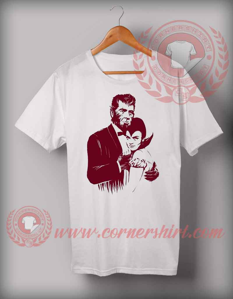 cheap custom made dracula couple t shirt halloween