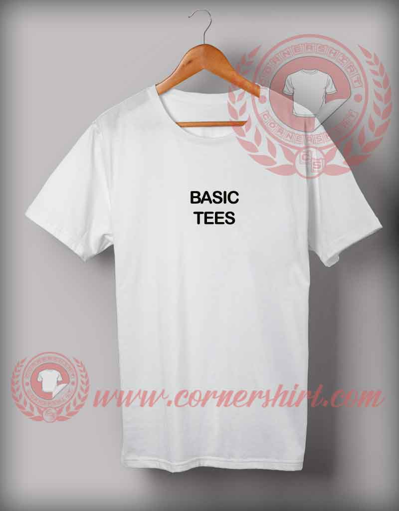Cheap custom made basic tee quotes t shirt cornershirt for Custom made tee shirts