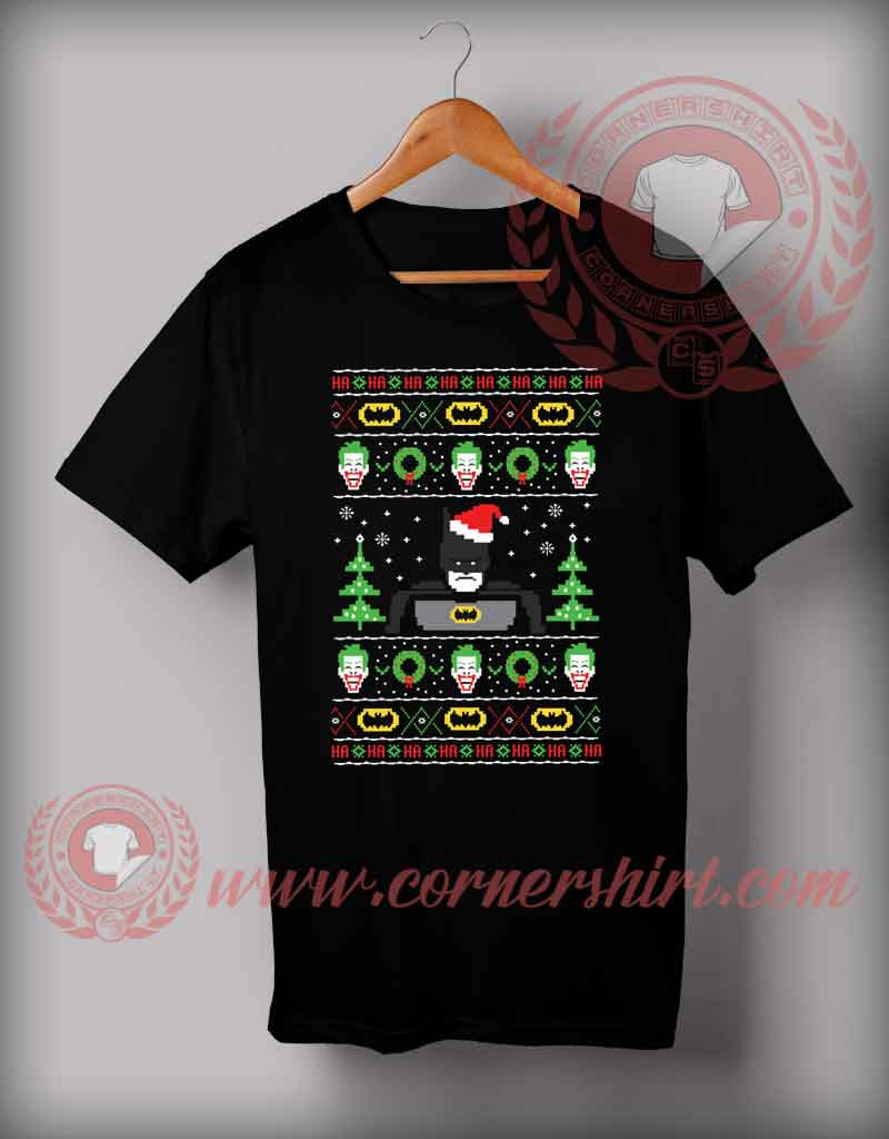 Batman ugly christmas t shirt funny christmas gifts for for Tacky t shirt ideas