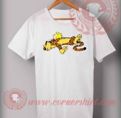Cheap Custom Made T shirts Calvin And Hoobes Tired