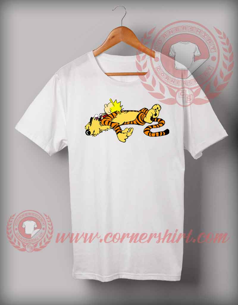 Cheap custom made t shirts calvin and hoobes tired for Custom tee shirts cheap