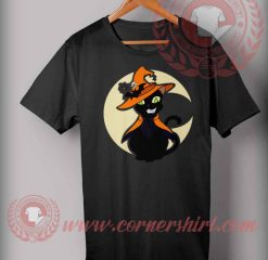 Cat Witch Halloween T shirt