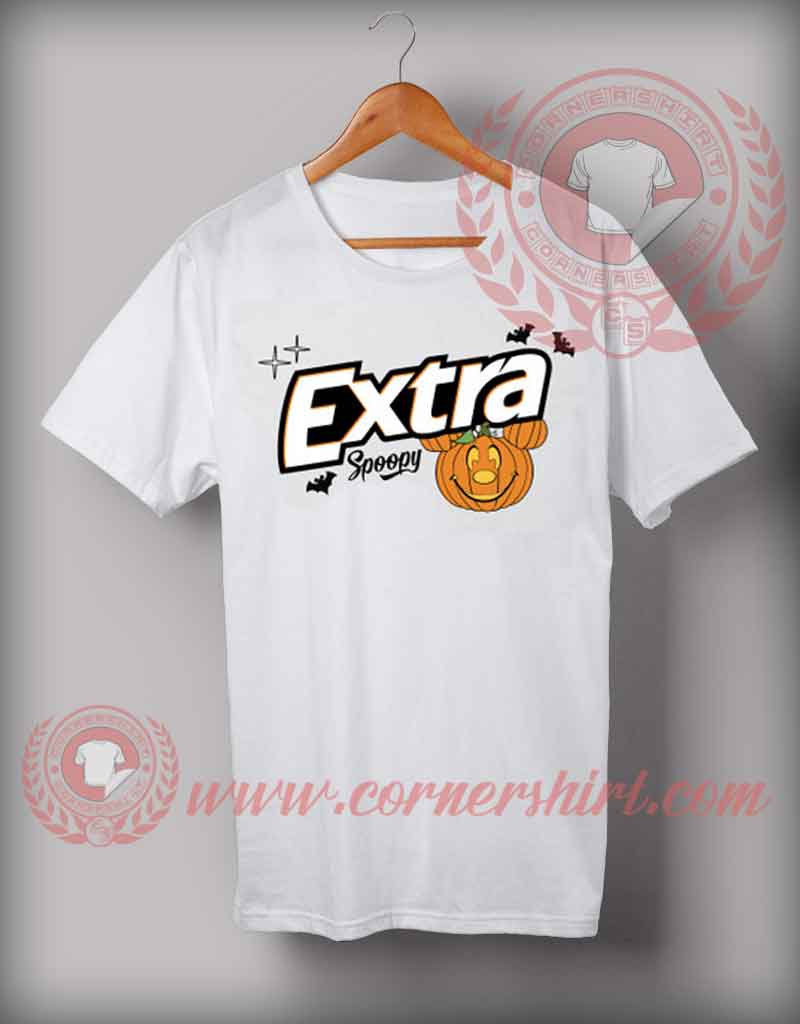 Extra spoopy t shirt halloween shirts for adults custom for T shirts online custom