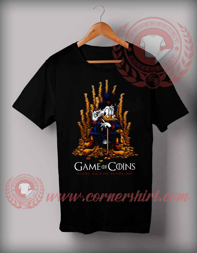 Game of coins t shirt custom design t shirts on sale by for T shirt design game