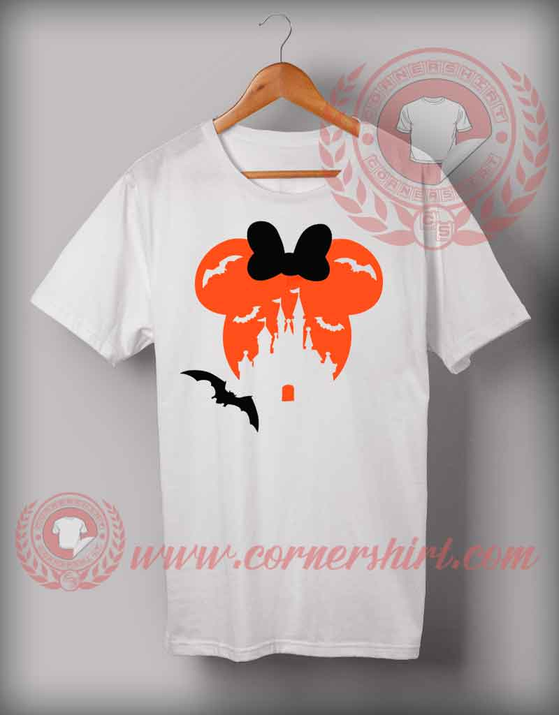 Minnie disney kingdom halloween t shirt custom design t for Designing custom t shirts