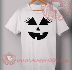 Eyelashes Pumpkin T shirt
