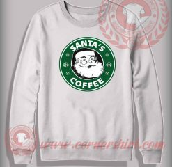 Santa Coffee Sweatshirt Funny Christmas Gifts For Friends