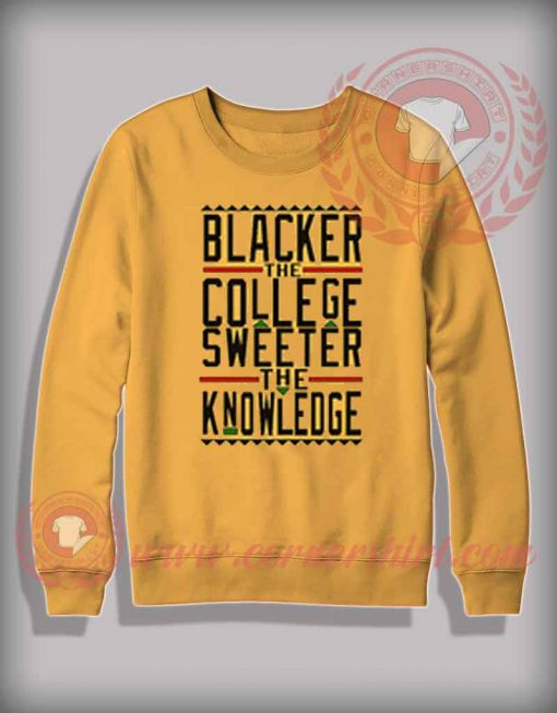 Blacker The College Sweater The Knowledge Sweatshirt