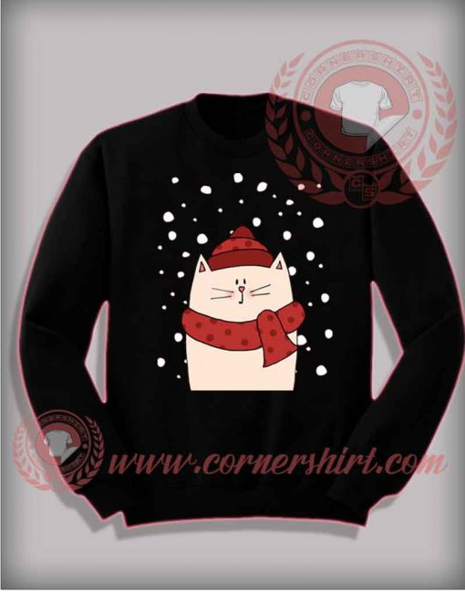 Cat With Scraft Sweatshirt Christmas Gifts For Friends