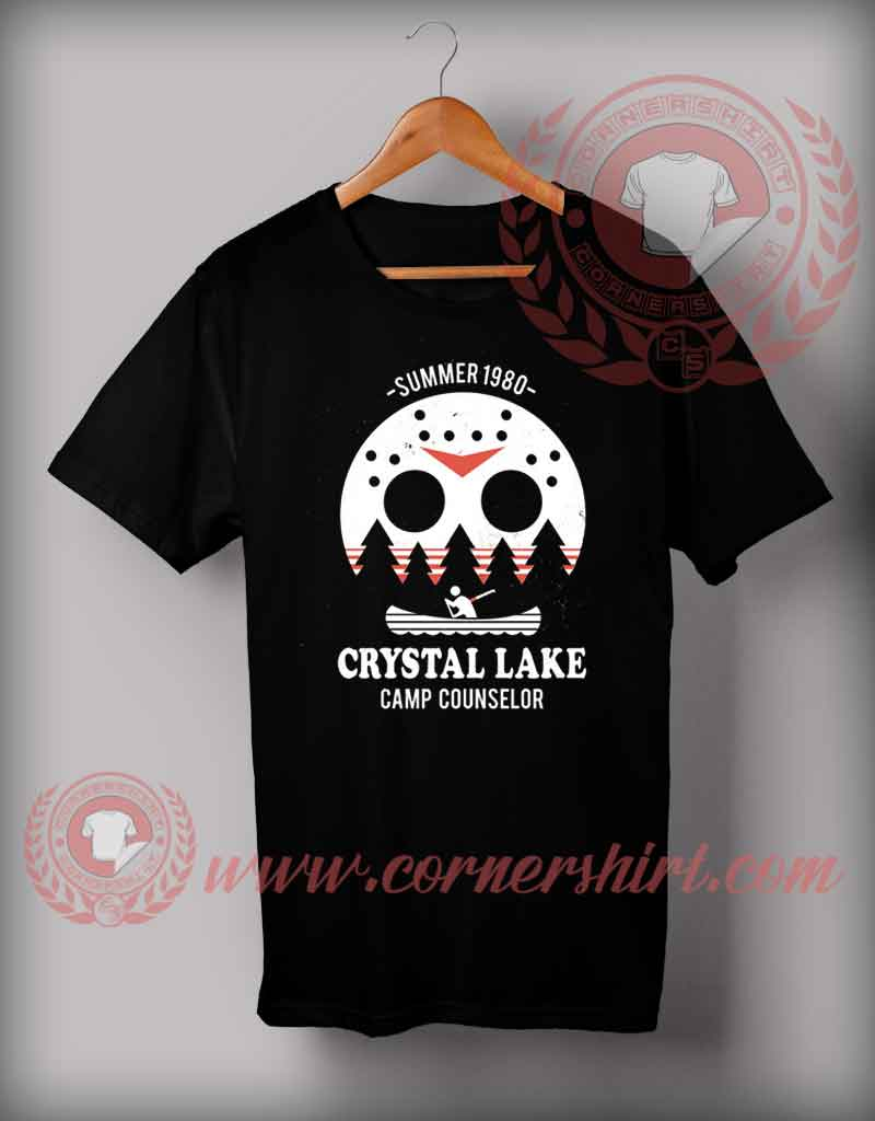 d8cd8f5f Crystal Lake Camp Counselor T Shirt - Halloween Shirts For Adults