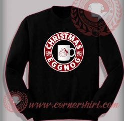 Christmas Eggnog Sweatshirt Funny Christmas Gifts For Friends