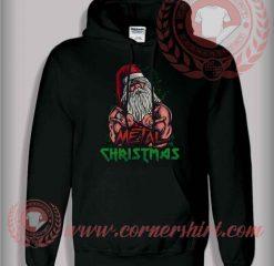 Santa Metal Christmas Pullover Hoodie