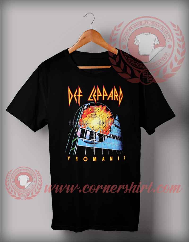 Deff leppard yromania t shirt cheap custom made t shirts for Custom t shirts under 10