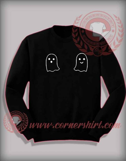 Cheap Costume Halloween Sweatshirt Boo Boobs