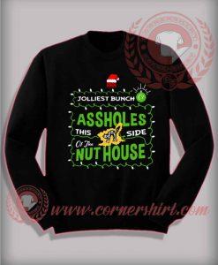 Jolliest Bunch Sweatshirt Funny Christmas Gifts For Friends