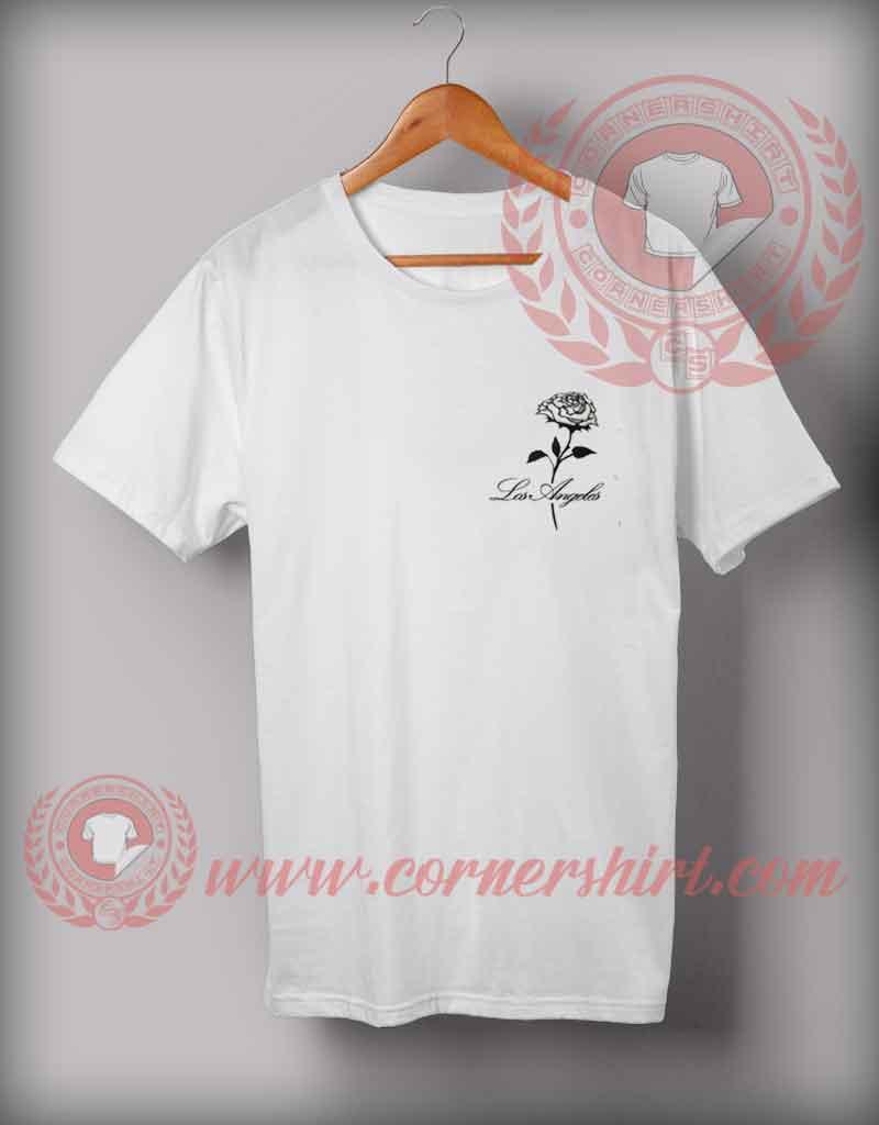 Los angeles rose t shirt cheap custom made t shirts for Custom dress shirts los angeles