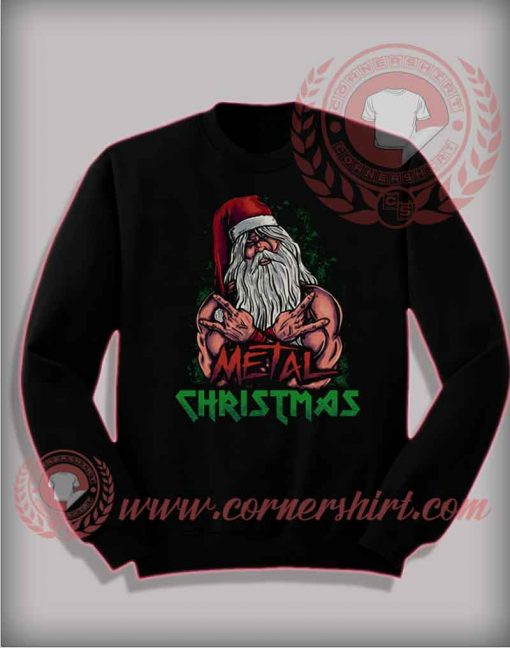 Metal Christmas Sweatshirt Funny Christmas Gifts For Friends