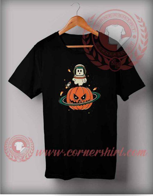Pumpkin Planet Halloween T Shirt