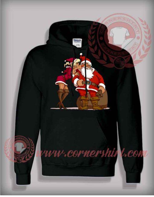 Santa Claus Kiss Pullover Hoodie