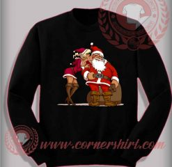 Santa Claus Kiss Sweatshirt Funny Christmas Gifts For Friends