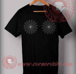 Spider Webs Boobs Halloween Costume T Shirt