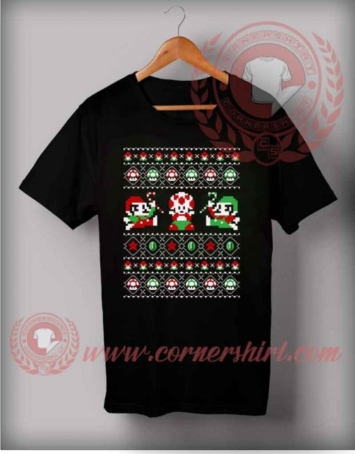 Super Christmas Bros T shirt