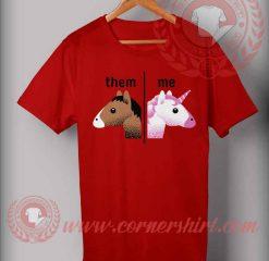 Different Unicorn Face T Shirt