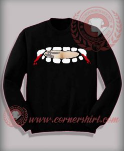 Vampire Fang Teeth Out Sweatshirt
