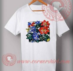 Vintage Flower Art T shirt