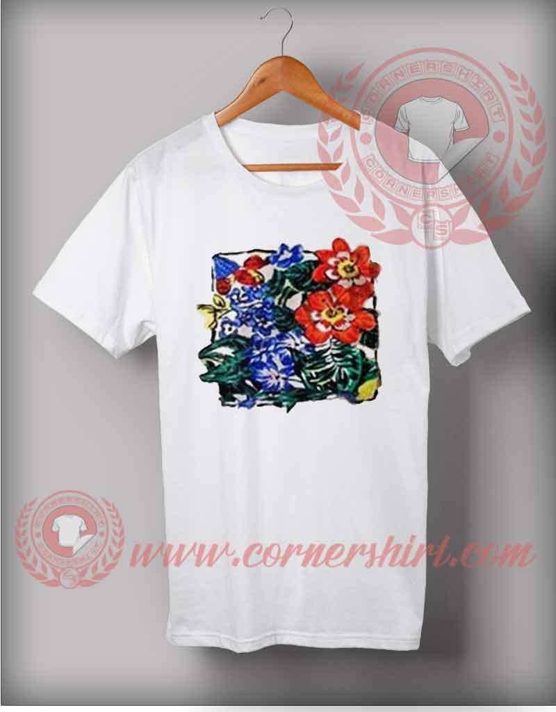 Vintage flower art t shirt cheap custom made t shirts by for Custom t shirts under 10