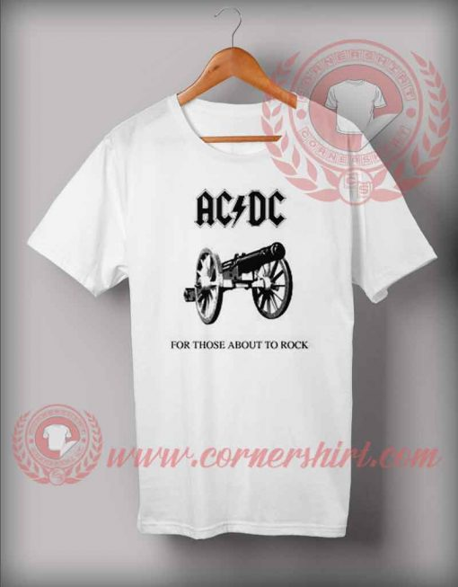 ACDC 1981 For Those About To Rock T Shirt