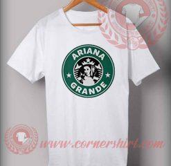 Ariana Grande StarBucks Coffee Logo T Shirt