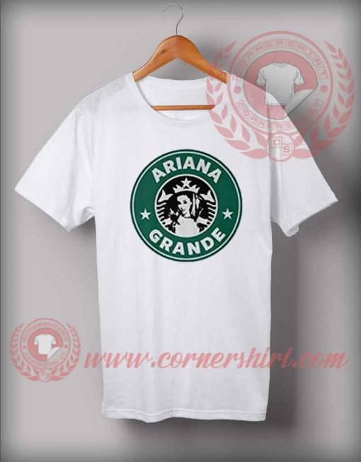 Ariana Grande StarBucks Coffee Logo T Shirt