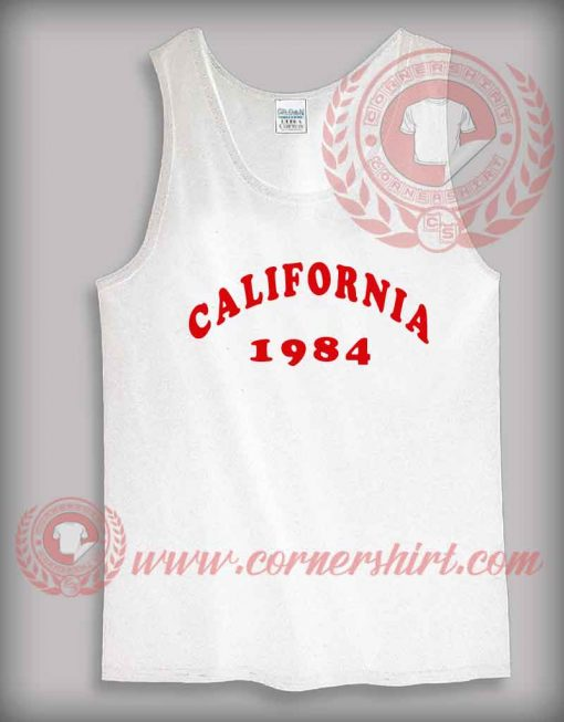 California 1984 Tank Top Mens or Womens