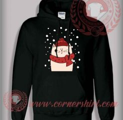 Cat With Scraft Christmas Pullover Hoodie