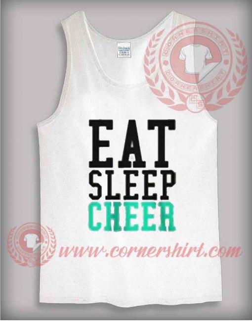 Eat Sleep Cheer Tank Top Mens or Womens