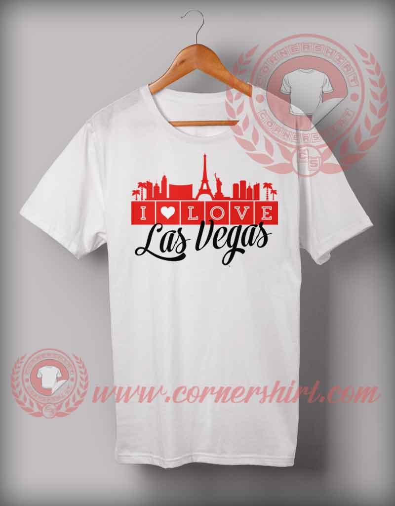 Love las vegas t shirt cheap custom made t shirts for Custom t shirt las vegas