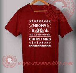 Meowy Christmas Ugly T shirt