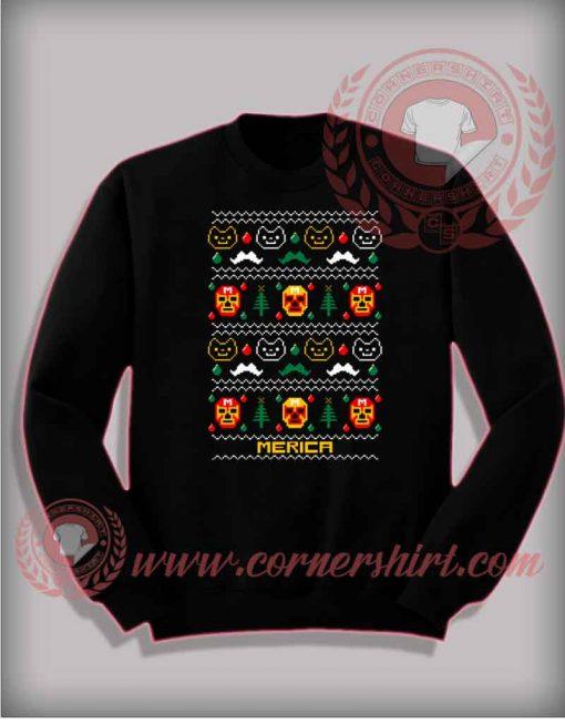 Merica Ugly Christmas Sweatshirt